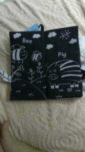 Black and White Soft Cloth Books for Babies