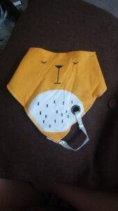 Cotton Baby Bibs with Pacifier Holder