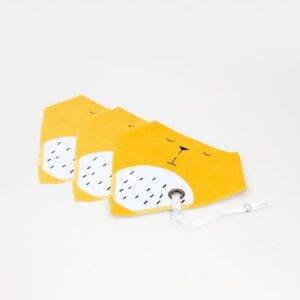 Cotton Baby Bibs with Pacifier Holder Set (3pcs)